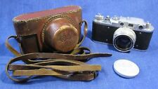 "EXC! Very Rare FED-ZORKI 1948 camera #02183 lens ZK 2/50 ""П"" ! original case !"