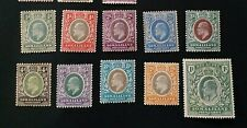 SOMALILAND 1904 0.5a to R1 SG 32 - 41 Sc 27 - 36 MLH/MH