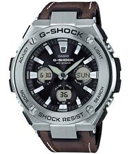 Casio G-Shock G-STEEL *GSTS130L-1A Solar SIlver & Brown Leather COD PayPal