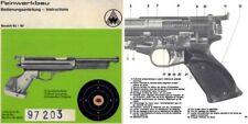 Feinwerkbau Modell 65  80 Air Pistol Manual