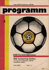 DDR-Liga 87/88 ASG hacia adelante Dessau-Sajonia anillo Zwickau, 06.09.1987