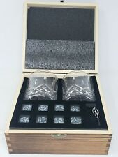 New listing Whiskey Stones Gift Set with 2 Glasses, Amerigo Make It Special
