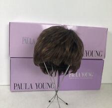 Paula Young Brown Bob Wig Lot Of 4 W/ Box Size 8