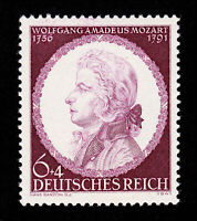 GERMANY STAMP SCOTT #B200 MOZART WWII 3RD REICH 1941 MNH-OG