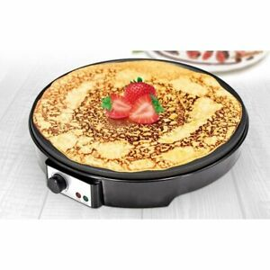 "12"" Electric Crepe & Pancake Maker Machine Hot Plate Griddle Non Stick 1000W"