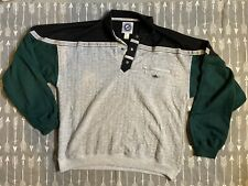 80s Greenline Intl. Men's Vintage Long Sleeve Rugby Polo  Striped Shirt Sz L