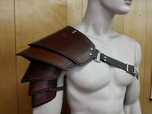 Medieval Leather Armor Sentinel Shoulder Larp Cosplay Knight Reenactment