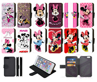MINNIE MOUSE Disney Inspired Wallet Flip Phone Case iPhone compatible ALL models