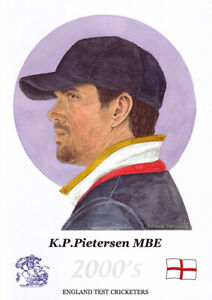 Kevin Pietersen - former England cricketer - Limited Edition watercolour print