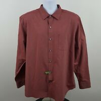 Tommy Bahama Men's Red Geometric L/S Casual Button Shirt Sz XL