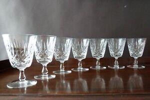 7 Edinburgh Crystal Appin Cut Crystal Glass  Wine Glasses, Old Mark 11,6cm