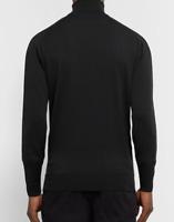 John Smedley Roll Neck Black Jumper Mens Size UK XL *REF137