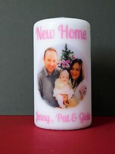 Photo Candle Personalised Family Birthday Friends Christmas Any Occasion