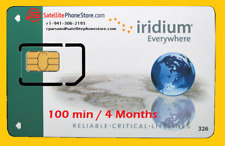 Iridium Sat Phone Prepaid Global Satellite SIM Card- 100 Minutes, Valid 4 Months