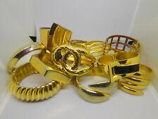 Vtg Huge Large Gold Tone Snake Hinged Clamper Bracelet Costume Jewelry Lot B10