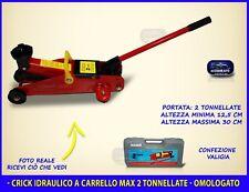 Crick idraulico a carrello crick auto sollevatore riparazione gomme 2 tonnellate