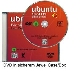 ubuntu Neu 18.04.01 LTS, 64 bit  ✔Live DVD  ✔Linux Version 2019  ✔CD/DVD Box