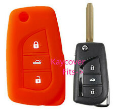 ORANGE SILICONE CAR KEY COVER for TOYOTA CAMRY COROLLA SPORT 2013 2014 ASCENT