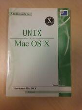 """Livre en français sur Apple """"UNIX POUR MAC OS X"""""""