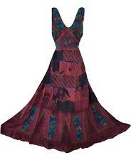Patchwork Dress Maxi Boho Hippy Festival Hand Embroidered Skirt 8 10 12 14 16