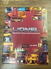 "1978 Lionel Big ""O"" Scale Trains And Accessories Catalog"