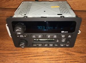 ~UNLOCKED~01-2005 Chevy Impala Monte Carlo Cavalier Cassette Tape Radio Unlocked
