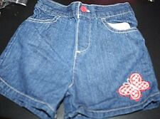 Fisher Price Outfit Girls size 24 Months Butterfly Plaid Shorts Hat Shirt --ZZ-