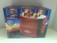 Nostalgia Electrics HDT-600RETRORED Retro Series Hot-Dog Popup Toaster-BRAND NEW