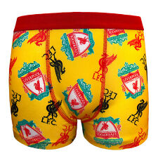 Liverpool FC Official Football 1 Pack Boys Boxer Shorts Yellow 11/12 Years