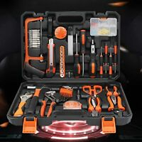 102Pcs Hardware Tool Kit Wrench Socket Pliers Hammer Hacksaw+ box Home Car Tool