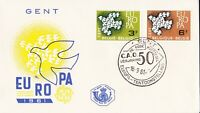 EU3) Belgium 1961 Europa Stamps On First Day Cover