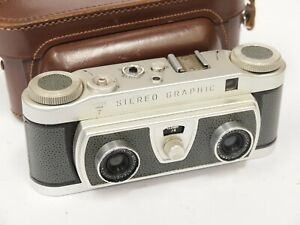 Wray Stereo Graphic 35mm Stereo Camera with Case. Stock No U10859