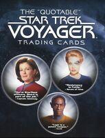 Star Trek Voyager The Quotable Star Trek Voyager Card Album