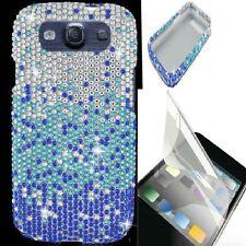 Samsung Galaxy III S3 i9300 i747 L710 DIAMOND BLING CASE+LCD Screen Protector