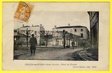 cpa 79 - CELLES sur BELLES (Deux Sèvres) Place du MARCHÉ Vue pas courante
