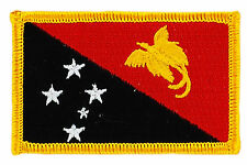 FLAG PATCH PATCHES Papua New Guinea IRON ON COUNTRY EMBROIDERED SMALL