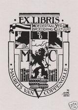 EX LIBRIS BOOKPLATE DI MAURITIS VAN COPPENOLLE