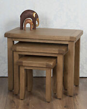 Chunky Solid Oak Dorset Country Nest of Tables, RRP £259.00!!! FREE DELIVERY!!