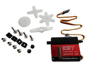 KST MS565 Mini Metal Gear Magnetic Sensor Digital Tail Servo - 450-500 Size