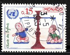 TIMBRE MONACO OBL N° 601  CHARTE DES ENFANTS  LA BALANCE