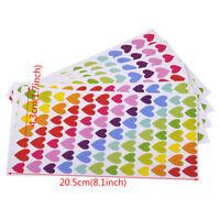 6X Bunt Herz Aufkleber Foto Tagebuch Scrapbooking Memo Love Klebe Sticker