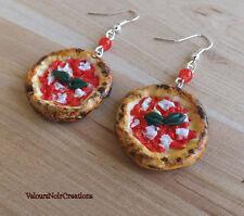 orecchini PIZZA margherita pizzetta napoli in fimo handmade creati a mano