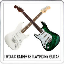 Preferirei essere a giocare la mia chitarra Coaster Tappetino, Fender Electric per chitarristi