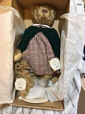 Barton's Creek Collection Teddy bear Megan and dog Muffin