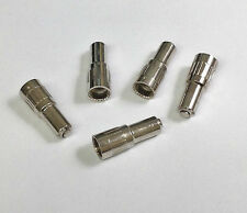 "(Lot Of 5) Chrome 3/4"" Tire Valve Stem Extensions"