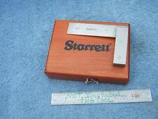 Starrett Square No55 Beveled Edge 3 Vintage Toolmaker Machinist Wooden Box