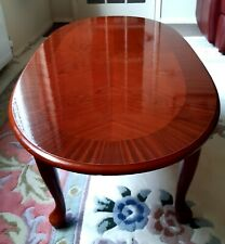 Oval Veneered Coffee Table