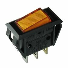 Dreefs Illuminated Rocker Switch - SPST - 125V 25A - Lighted Amber - Snap-in