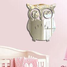 Modern Mirror 3d Owl Removable Decal Art Mural Wall Sticker Home Room DIY Decor