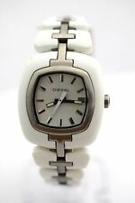 DIESEL WOMEN'S DZ5082 Square White Dial White Stainless Steel Watch